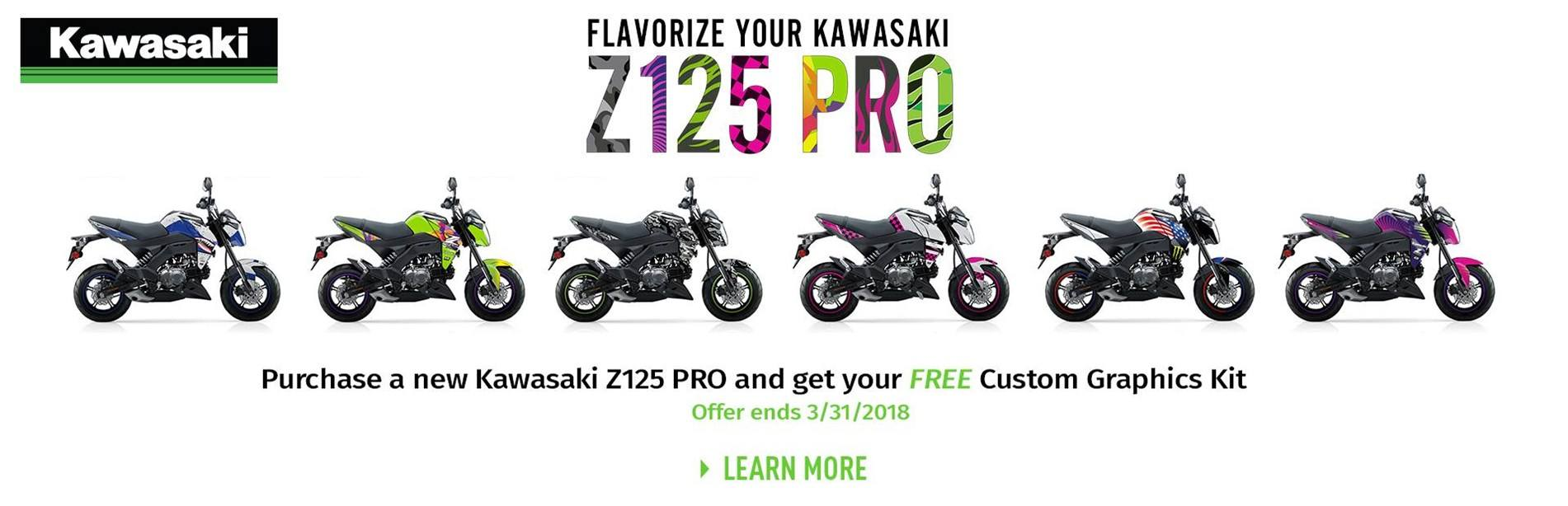 Kawasaki - Z125 Pro GET A FREE CUSTOM GRAPHICS KIT